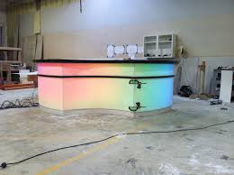 Illuminated Reception Desk Illuminated Modern Reception Desk In Corian With Multi Colored