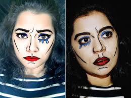 Youtube Halloween Makeup by Snapchat Pop Art Filter Makeup Youtube