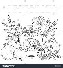 autumn vector coloring page adults black stock vector 703002130