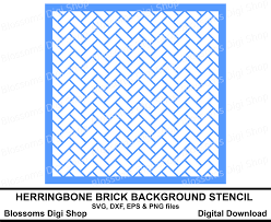 herringbone brick stencil background svg cut file digital