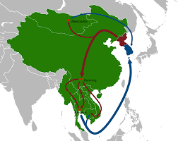 Qatar Route Map by File North Korean Defector Routes Map Png Wikimedia Commons