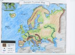 Physical Map Of Europe by Mr Hammett World Geography September 2016