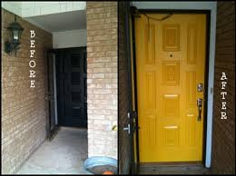 remodelaholic sunshiny day yellow entry door