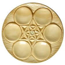 sedar plates carved wood carved cedar seder plate bass furniture and judaica