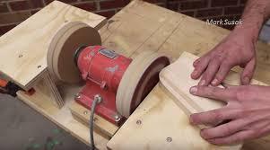 Old Bench Grinder Video Make A Double Disc Sander From An Old Bench Grinder