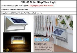 solar power battery operated terrace led lights for stairs ip65