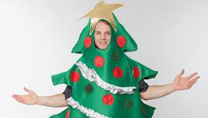 christmas tree costume carlson is dressed as a christmas tree