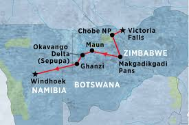 Victoria Falls Map Experience Botswana Botswana Tours Peregrine Adventures Au