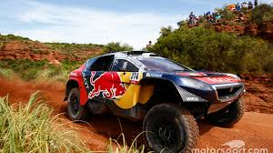 peugeot second dakar cars stage 3 loeb extends lead with second win in a row