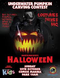 halloween movie pumpkin underwater pumpkin carving contest pacific pro dive u0026 marine