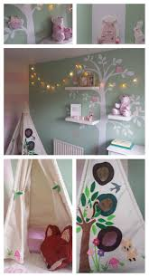 this is my little girls woodland forest themed nursery bedroom