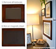 diy magnetic frames smart diy solutions for renters