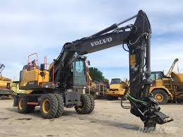 volvo usa used volvo ew160 e wheeled excavators year 2017 for sale mascus usa