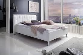schlafzimmer swarovski meise polsterbett rapido in kunstleder weiß 140x200 cm kopfteil