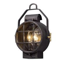 Nautical Outdoor Sconce Troy Lighting Point Lookout 2 Light Wall Sconce Lantern Small
