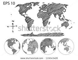 earth globe world map detail vector stock vector 115043428