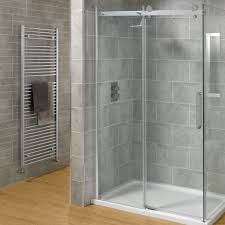 bathroom stunning white minimalist shower with frameless glass