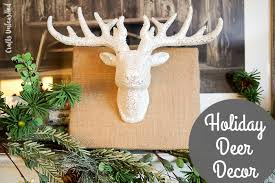 Deer Antler Decorations For Christmas by Diy Deer Decor Idea For The Holidays Crafts Unleashed