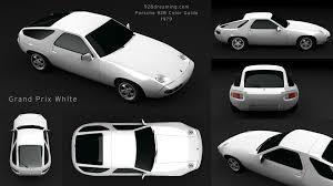 porsche 928 white 928 dreaming 1979 colors