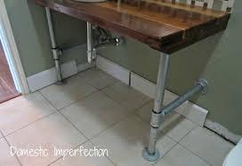 Rustic Industrial Bathroom - rustic industrial bathroom vanity domestic imperfection