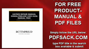 haynes repair manual honda prelude 1995 h23a manual free video