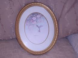 ebay home interiors home interior set of 2 gold syrocoframed oval matted hummingbird