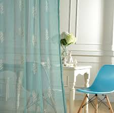 Cotton Gauze Curtains Embroidered Sheer Voile Curtain Fabric Embroidered Sheer Voile