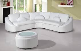 Modern White Bonded Leather Sectional Sofa Modern White Bonded Sectional Sofa For Small Living Room