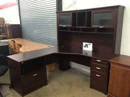 l shaped office desk with hutch cherry comfortable l shaped