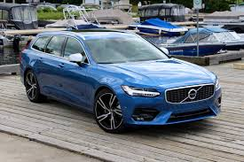 blue volvo station wagon 2017 volvo v90 r design review autoguide com news