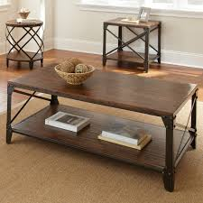 distressed metal coffee table steve silver winston rectangle distressed tobacco wood and metal
