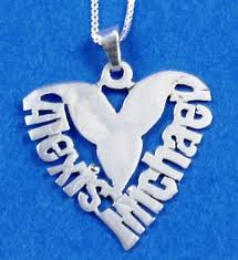 personalized heart pendant wow imports personalized silver heart couples necklace