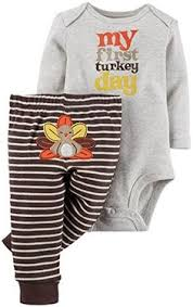 thanksgiving infant baby boy clothes romper