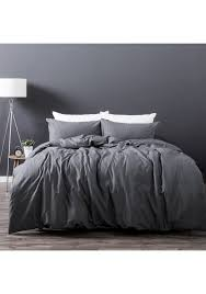 king bed slate linen cotton quilt cover set linen vintage wash