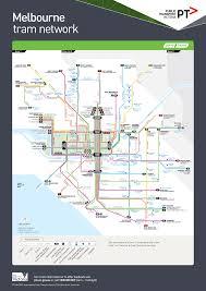 melbourne tram map melbourne tram map australia trains tram map