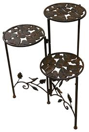 iron 3 tier planter stand traditional planter hardware and