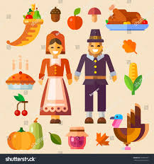 thanksgiving day thanksgiving symbols pumpkin autumn stock vector
