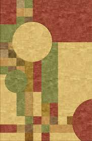 frank lloyd wright mission style inspired rug home decor