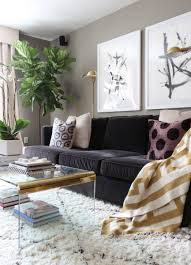 Living Room Furniture New York City Solomon S New York City Apartment Tour Fiddle Leaf Fig