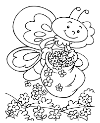 spring coloring sheet 14 print color free