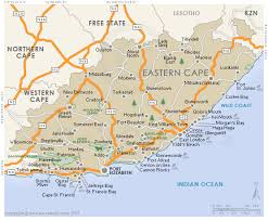 j bay south africa map eastern cape regional map