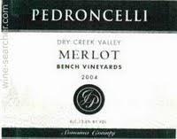 Vineyard Bench Pedroncelli Bench Vineyard Merlot Dry Creek Valley Usa Prices