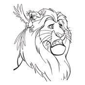coloring lion king disney 4579