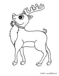 kawaii reindeer coloring pages hellokids