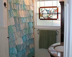 Turquoise Ruffle Curtains Ruffled Curtain Etsy