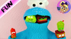 cookie monster eats grossery gang gross mouldy food trash