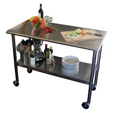 stainless steel movable kitchen island portable food prep table lv condo