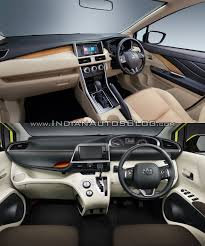 mitsubishi interior mitsubishi expander vs toyota sienta interior indian autos blog