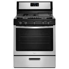 how to light a whirlpool gas oven whirlpool 5 1 cu ft gas range in stainless steel wfg505m0bs the