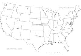 Black And White United States Map by America United States Map Dwg Free Cad Blocks Download
